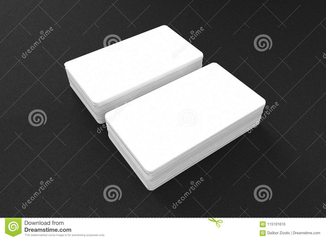 Business cards blank mockup template 3d illustration stock 3d render of business cards blank mockup template 3d illustration cheaphphosting Gallery