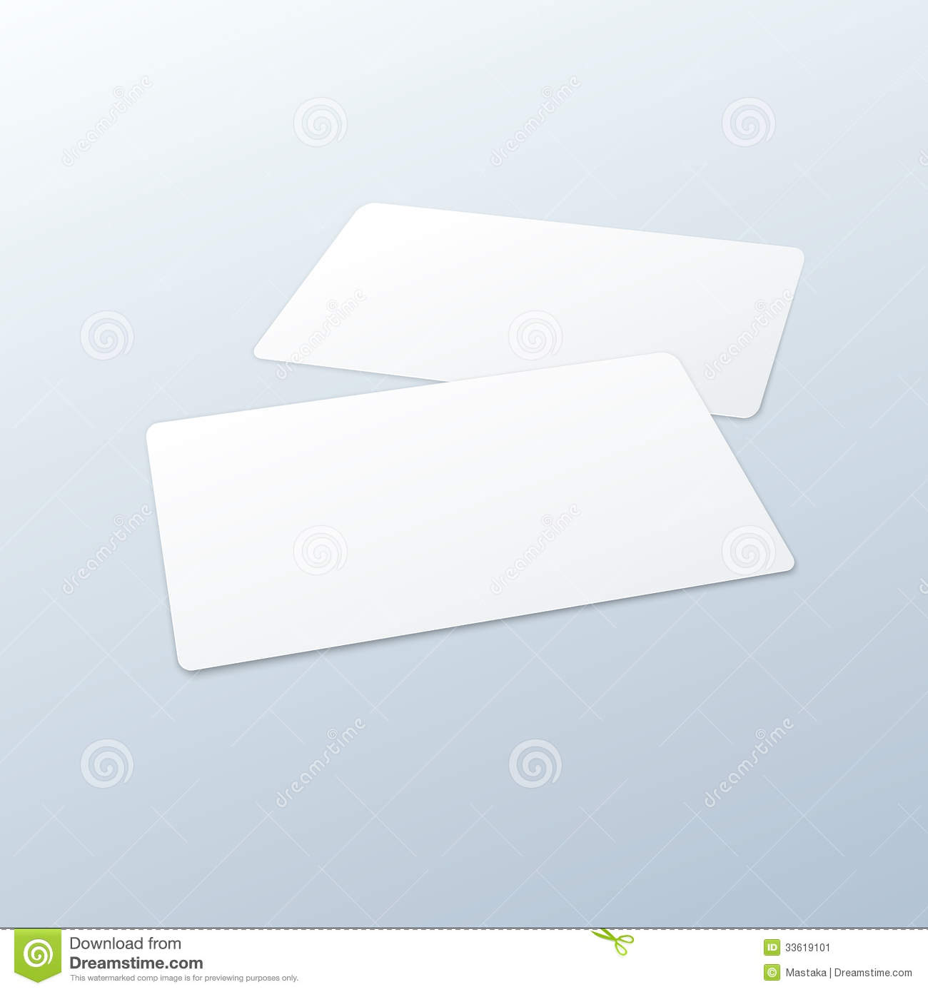 Business Cards Blank Mockup Template Stock Image - Image ...