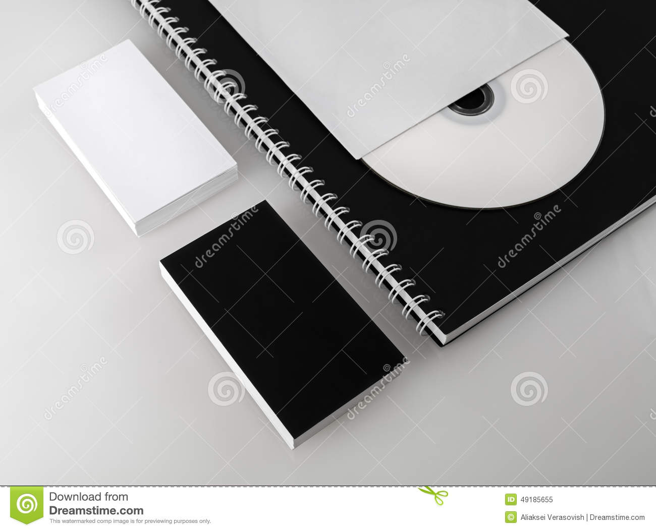 Business Cards Cd And Notepad Stock Image Image Of Advertise