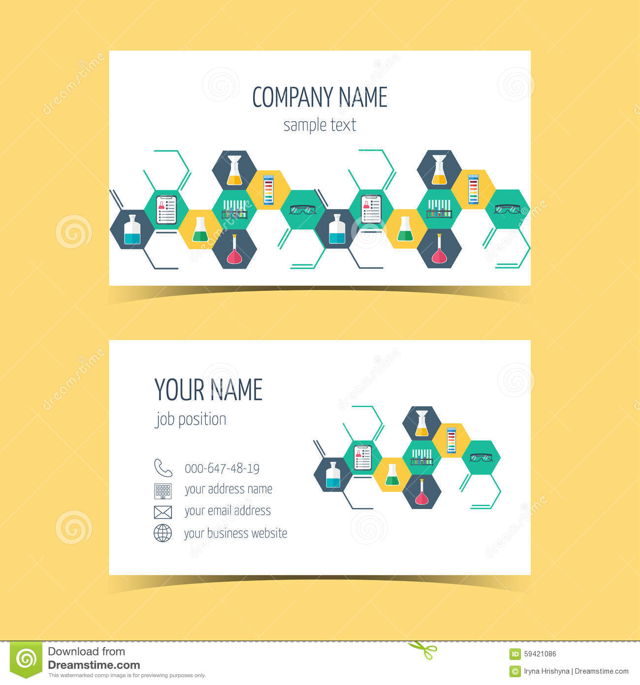 Business cards for chemical and scientific companies promotional business cards for chemical and scientific companies promotional products vector colourmoves