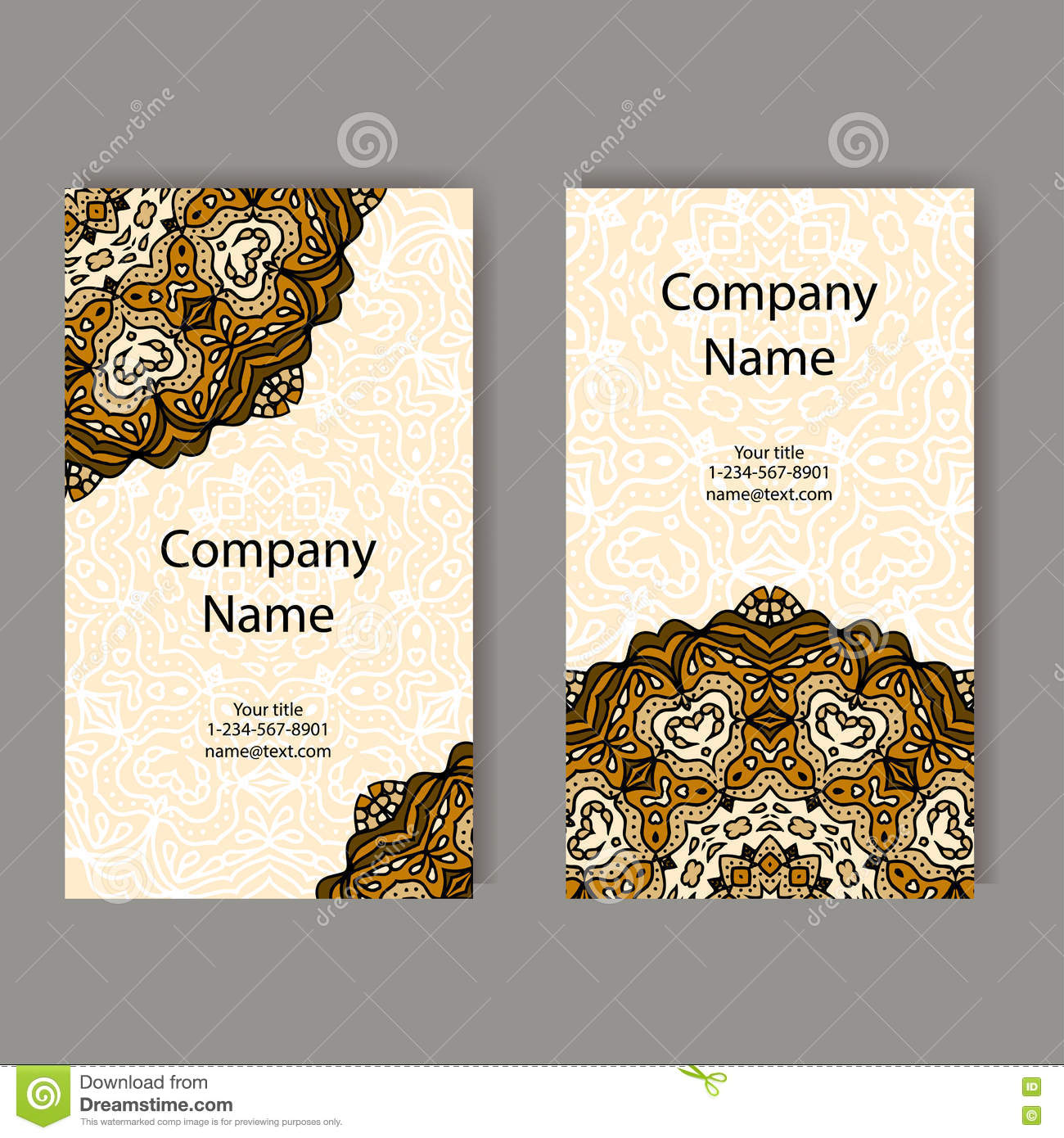 Business cards collection ornament for your design with lace download comp reheart Image collections