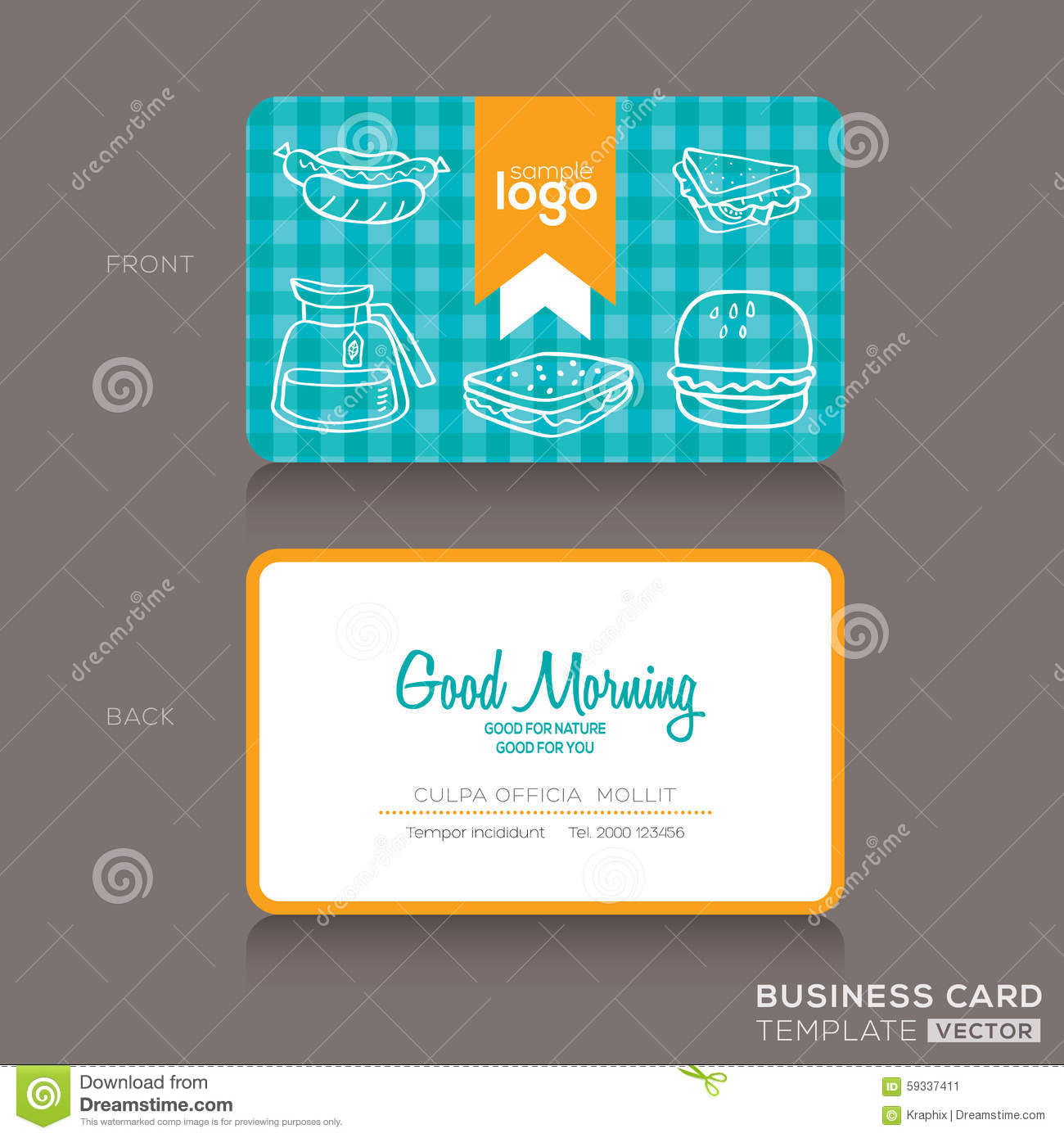 Business Cards Design For Bakery Shop Or Cafe Stock Vector ...