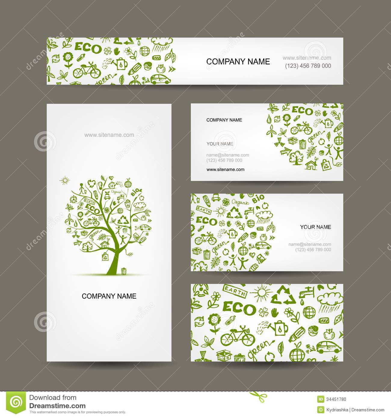 Business cards design green ecology concept stock vector business cards design green ecology concept reheart