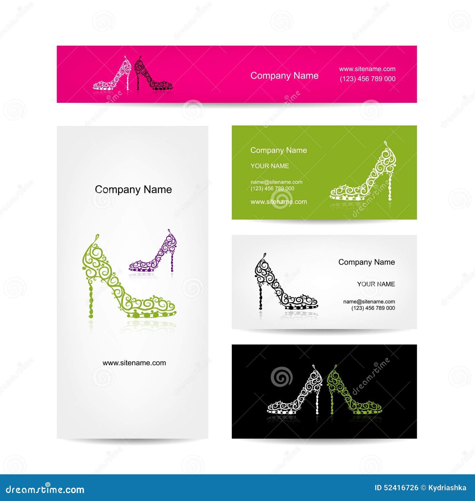 Business cards design ornate female shoes stock vector download business cards design ornate female shoes stock vector illustration of heel cover colourmoves