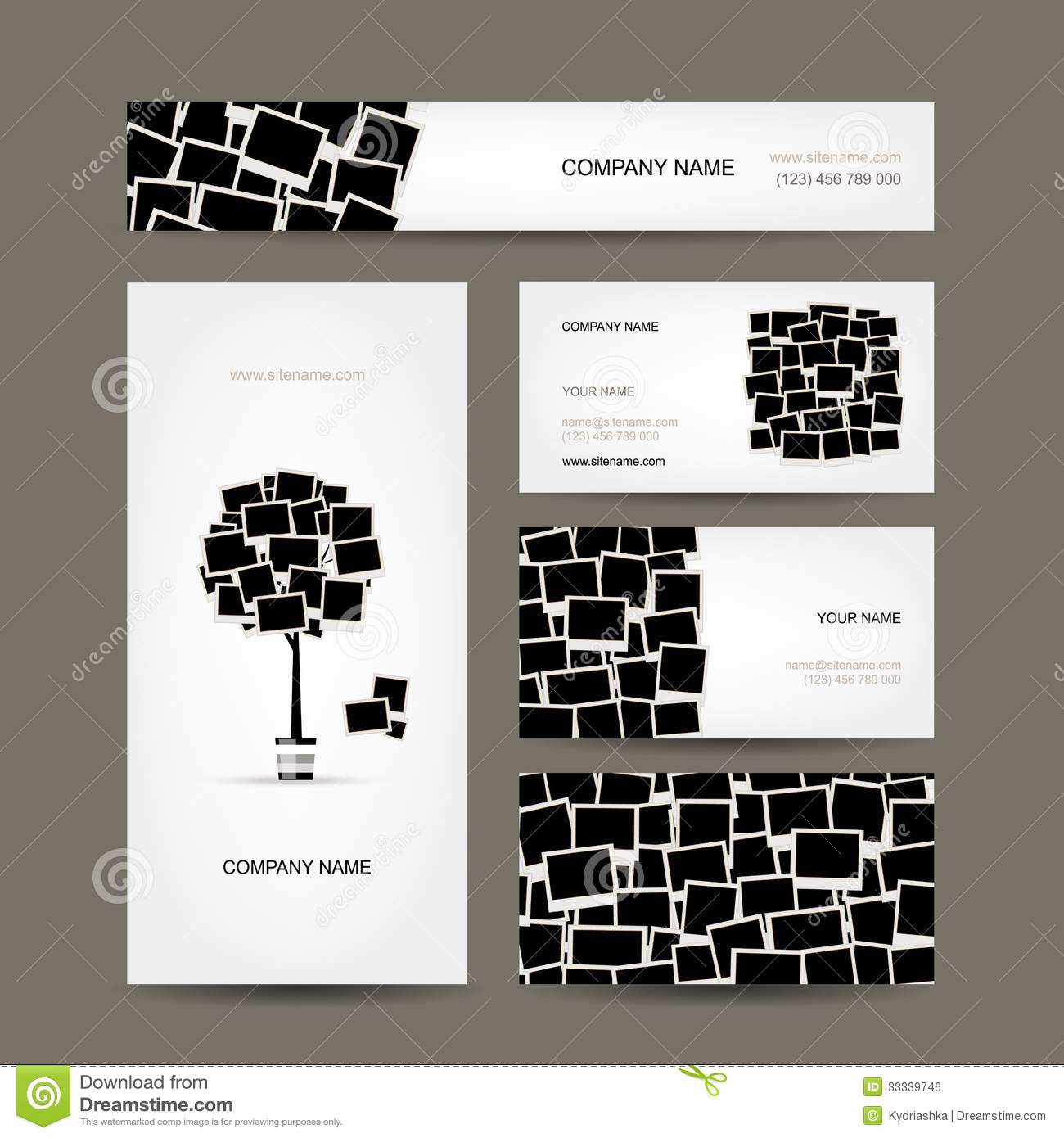 Business cards design photo frames stock vector image 33339746 business cards design photo frames magicingreecefo Gallery