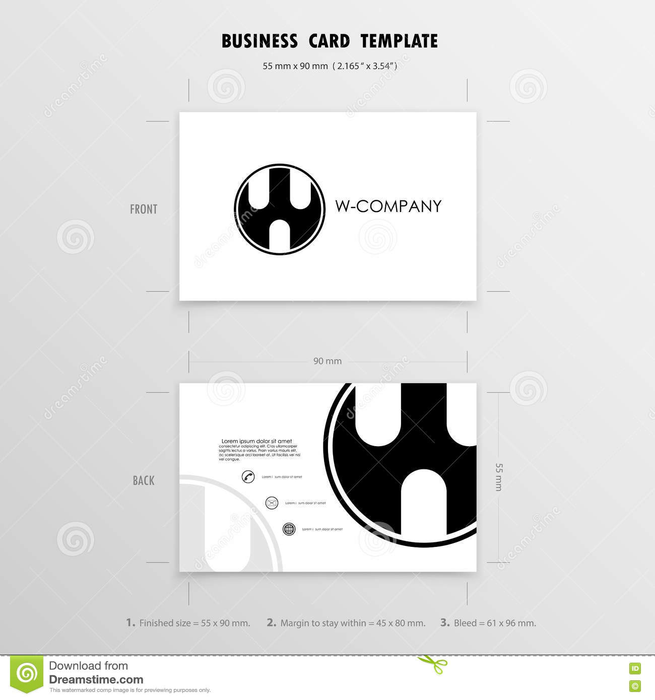 Business cards design template name cards symbol size 55 mm x download business cards design template name cards symbol size 55 mm x stock vector reheart Choice Image