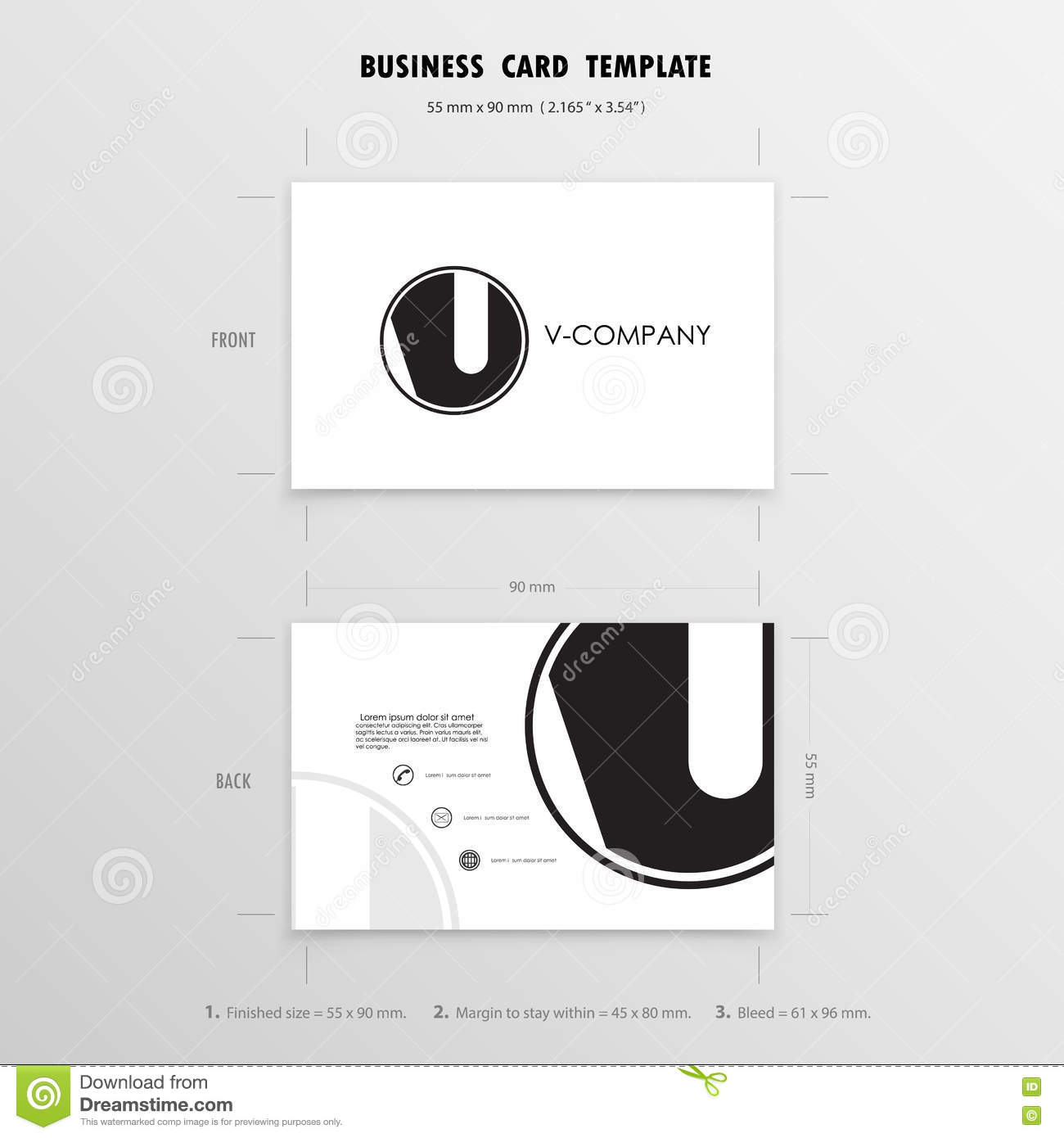 Business cards design template name cards symbol size 55 mm x royalty free vector download business cards magicingreecefo Image collections