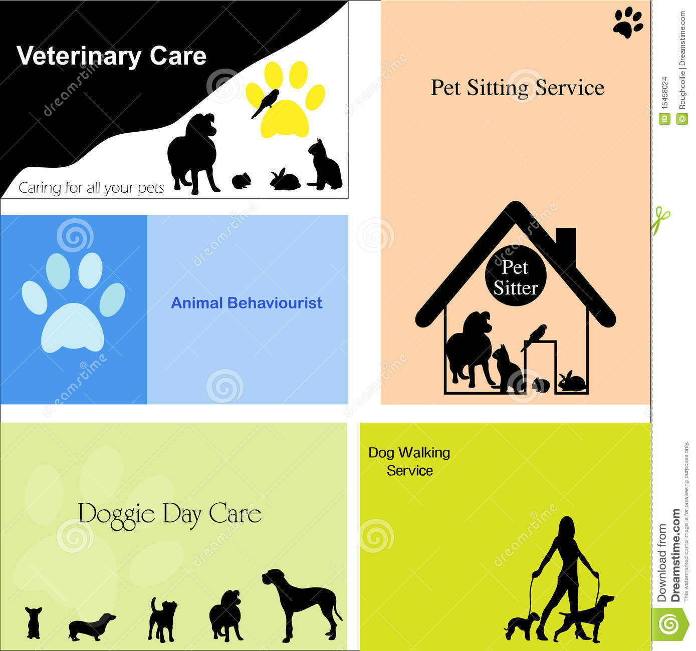 ... For Pet Sitting Or Pet Care Business Stock Vector - 1389x1300 - jpeg