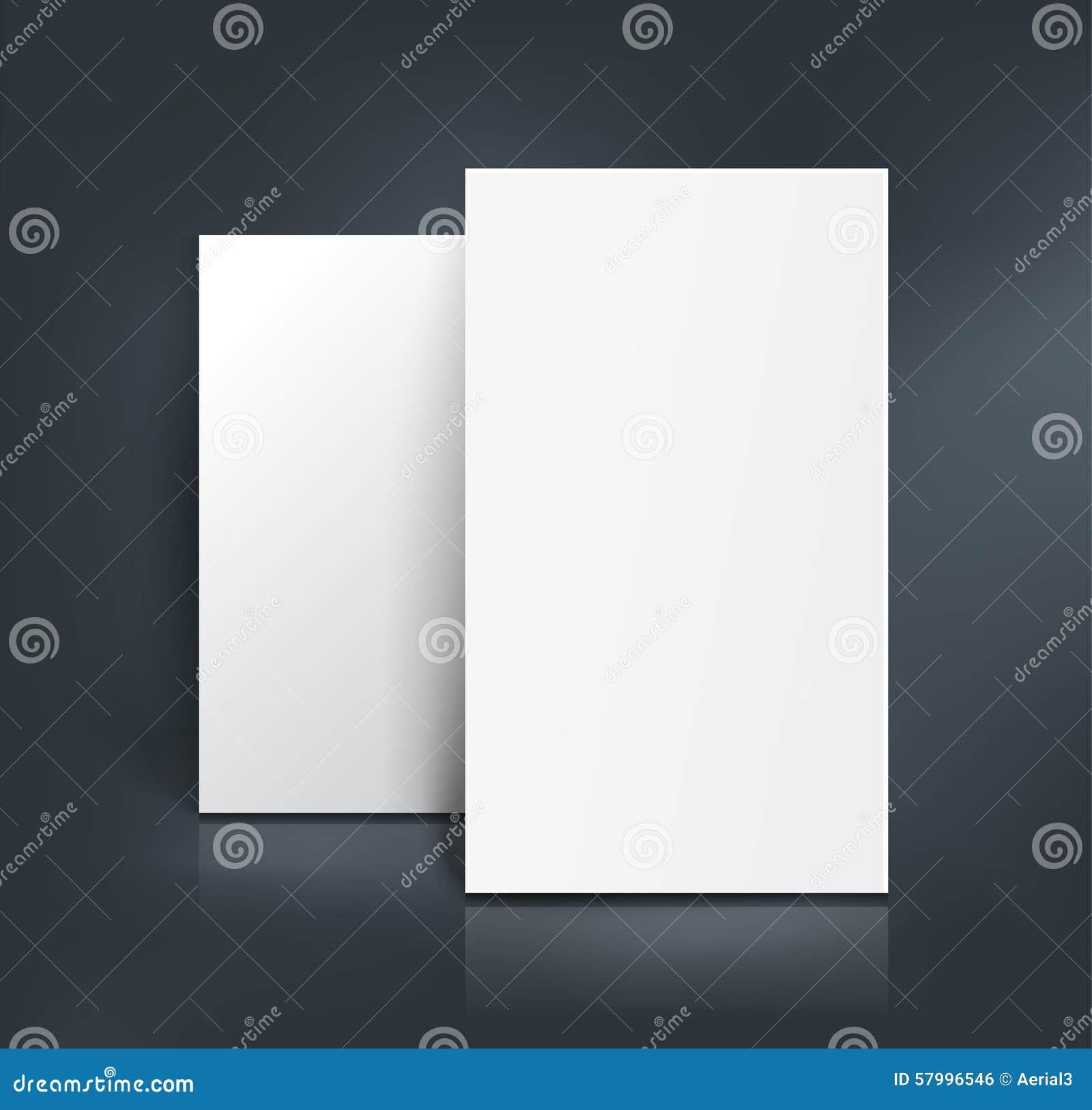 Business Cards Mockup. Vector Illustration Stock Vector ...