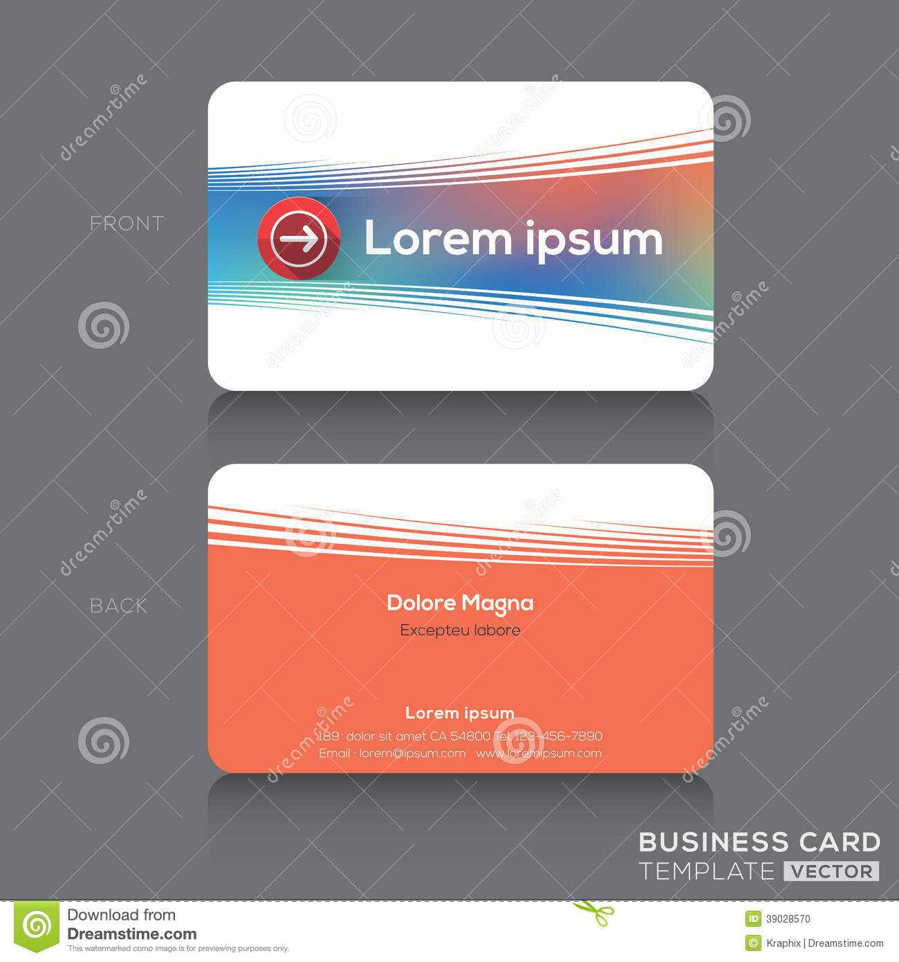 Business Cards Name Card Design Template Stock Vector - Image ...