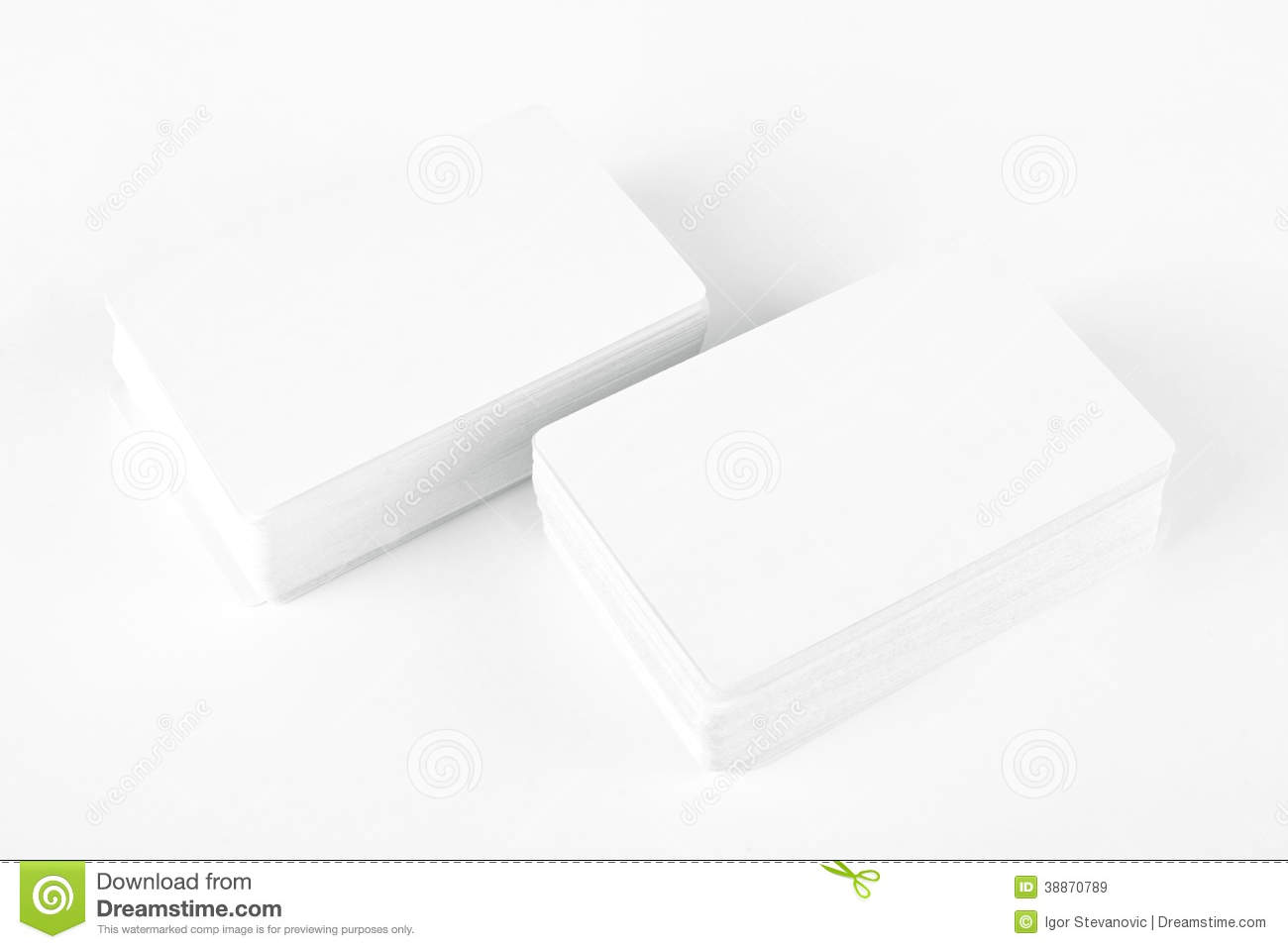 Business Cards With Rounded Corners Stock Image - Image: 38870789