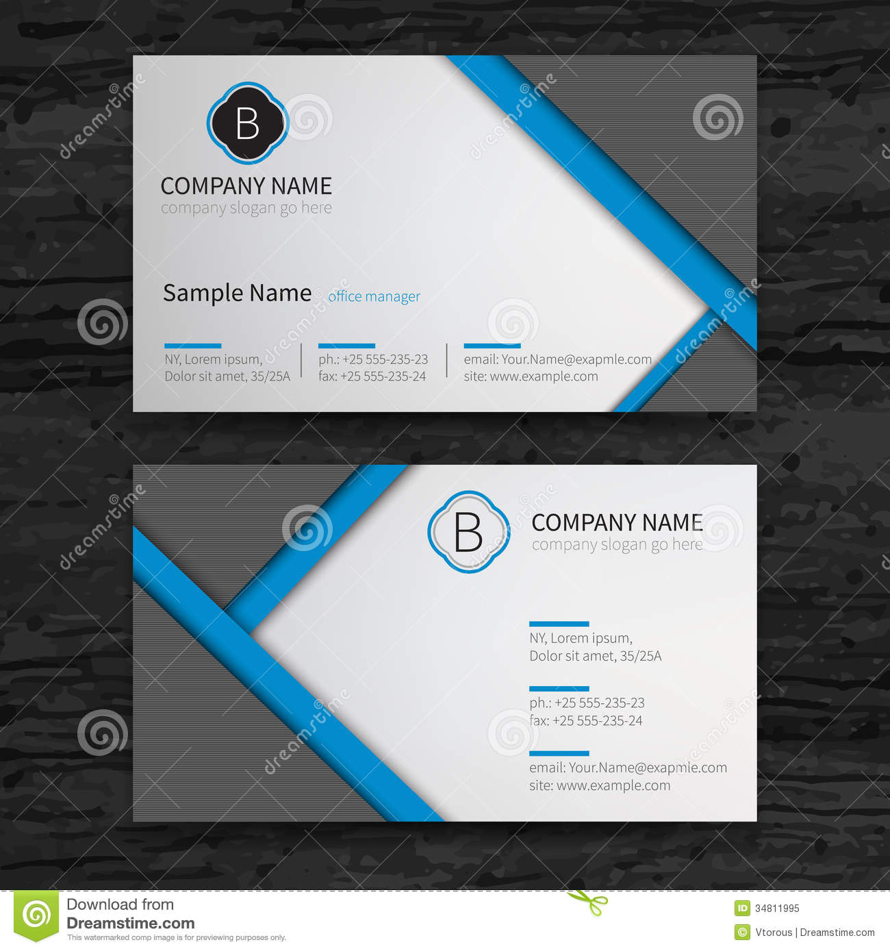 Business cards set stock vector image of element blue 34811995 business cards set magicingreecefo Choice Image