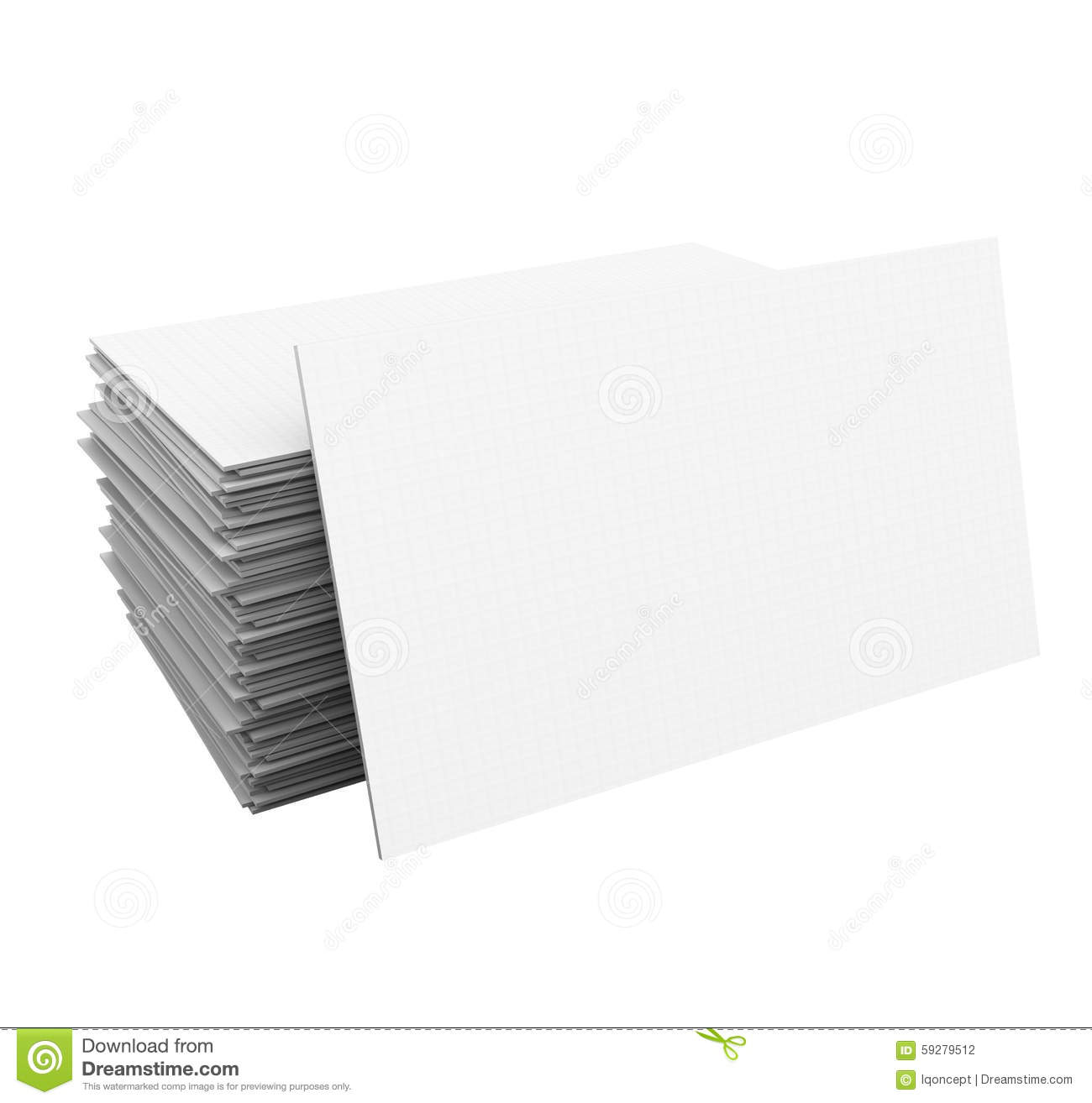 Business Cards Stack Pile Blank Copy Space Your Business Company ...
