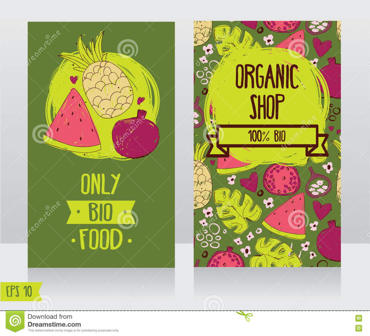 Business cards template for organic foods shop or vegan cafe stock business cards template for organic foods shop or vegan cafe cheaphphosting Choice Image