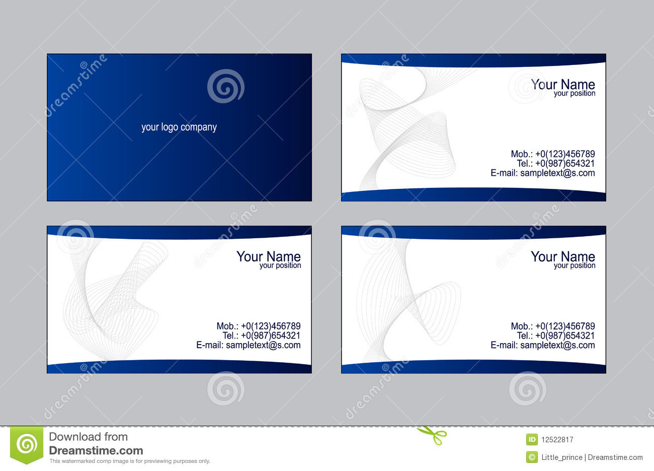 Business cards templates stock vector illustration of paper 12522817 reheart Choice Image