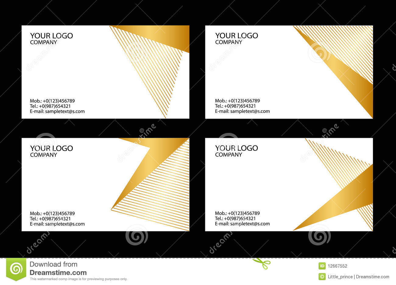 Business Cards Templates Stock graphy Image