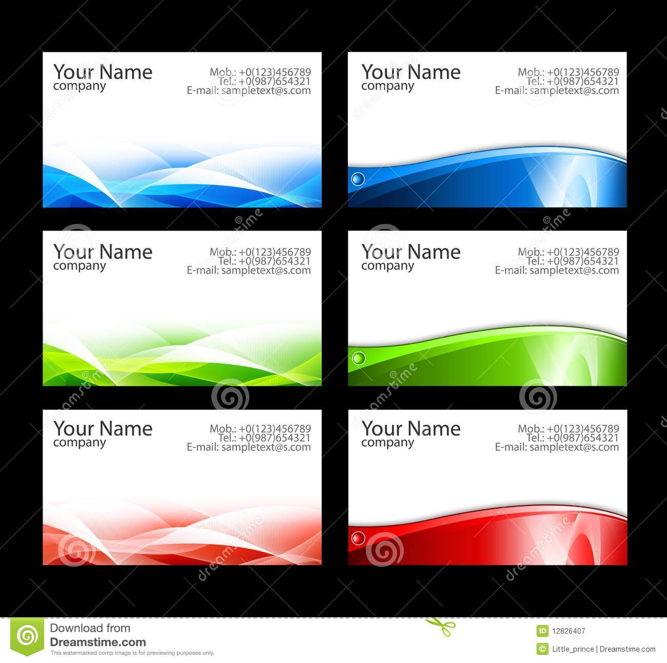 Business Cards Templates Stock Illustration Illustration Of Paper - Free business card layout template