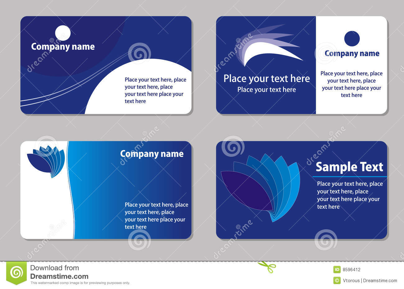 Business Cards Templates Stock Photography Image 8596412