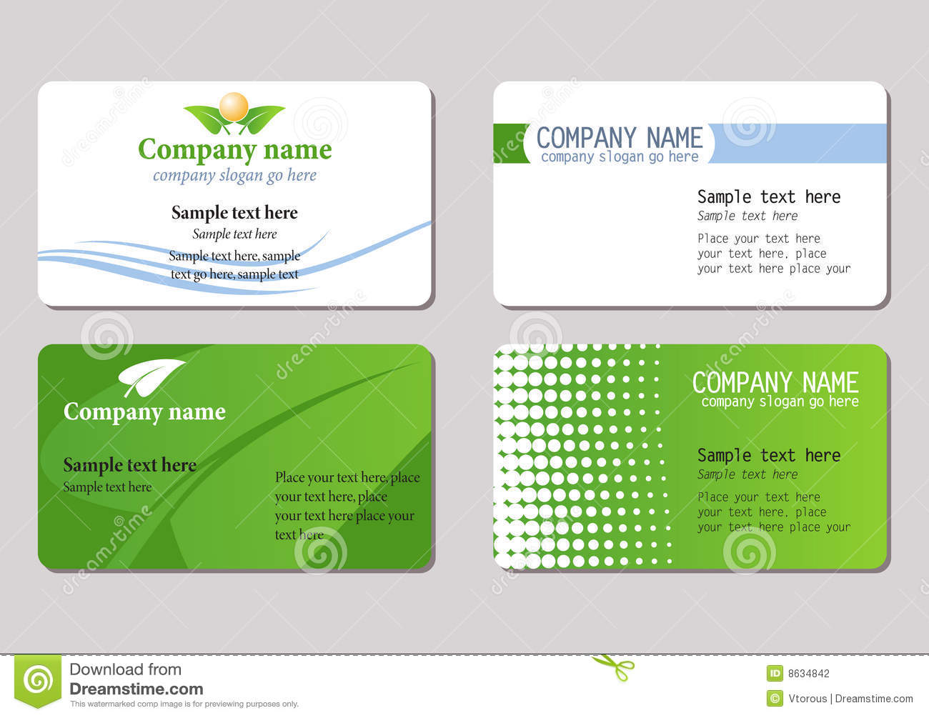 Business Cards Templates Stock Photography Image 8634842