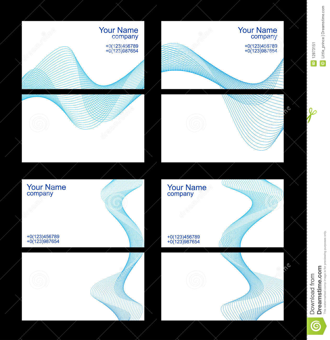 Business Cards Templates Front And Back Stock Image   Image  12873151 VyEyPcbs
