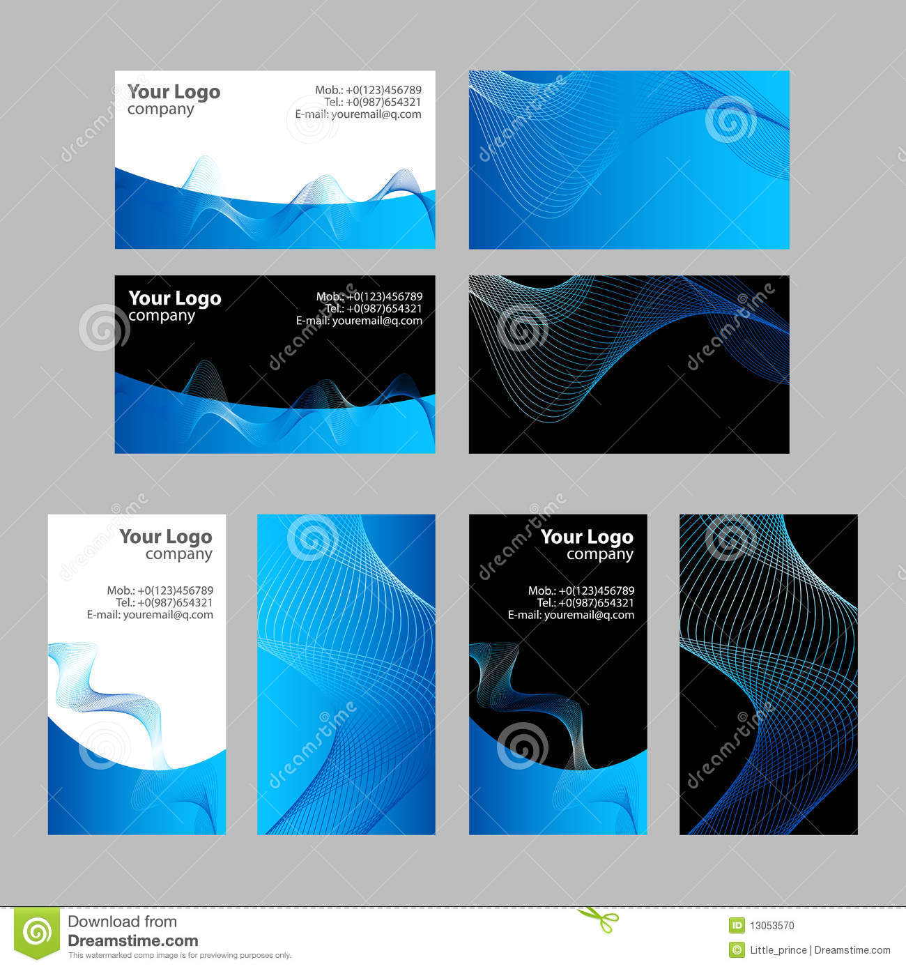 Business cards templates front and back stock photo for Front and back business card template