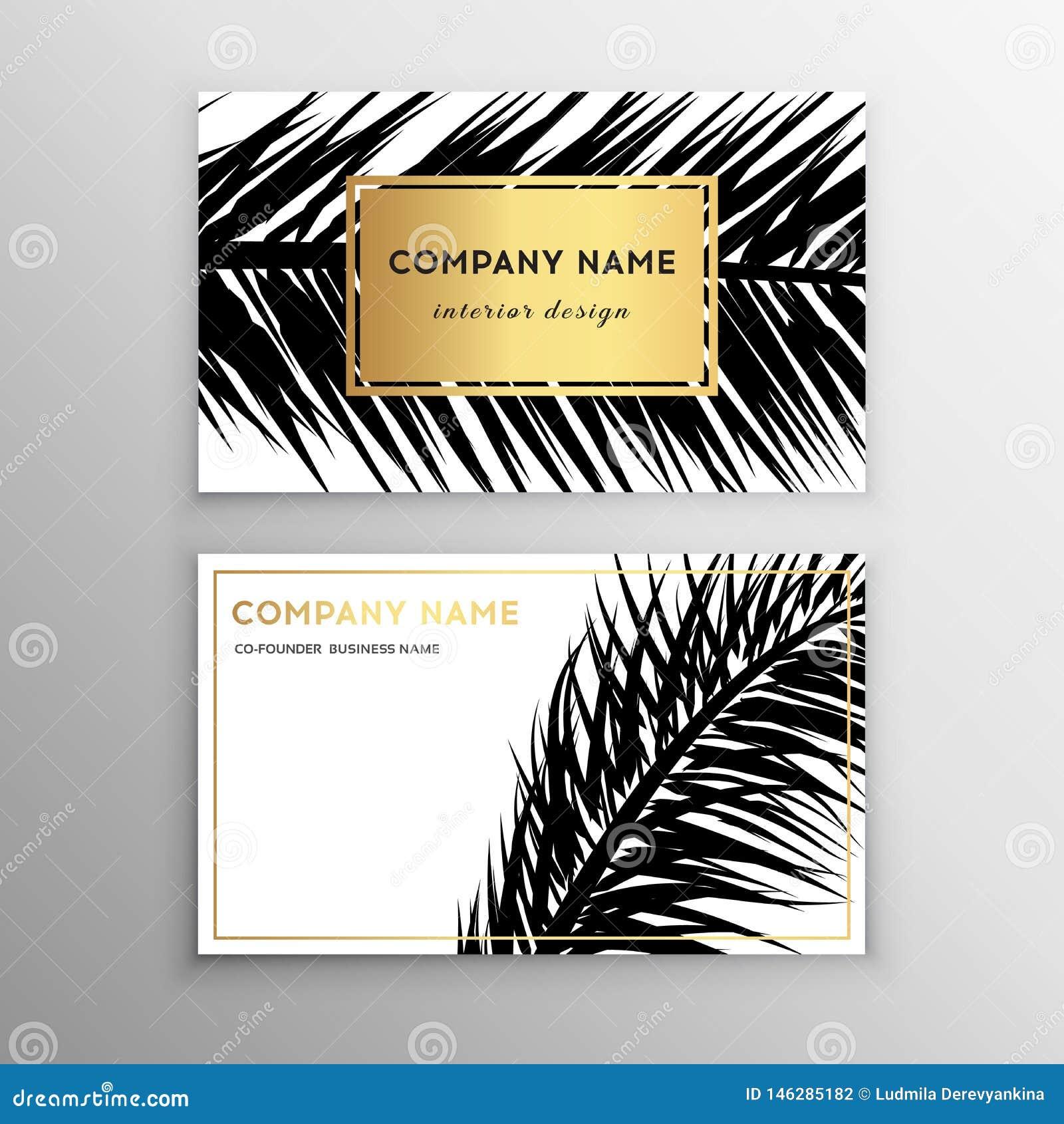 business cards tropical graphic design tropical palm leaf. Black Bedroom Furniture Sets. Home Design Ideas