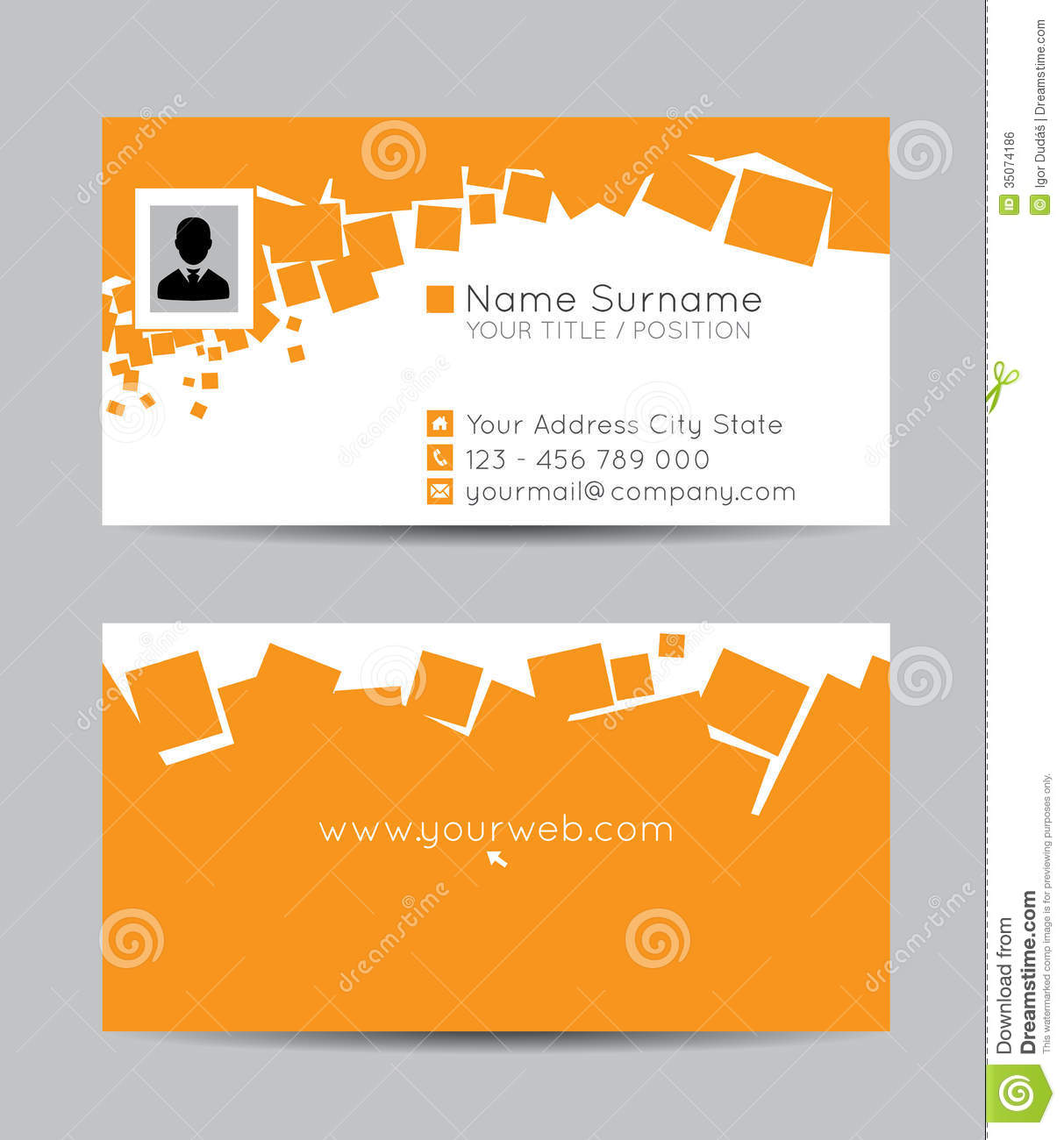 Business cards stock illustration illustration of clean 35074186 reheart Choice Image