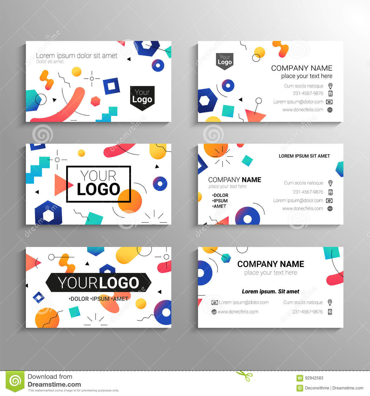 Business Cards - Vector Template Abstract Background Stock Vector ...