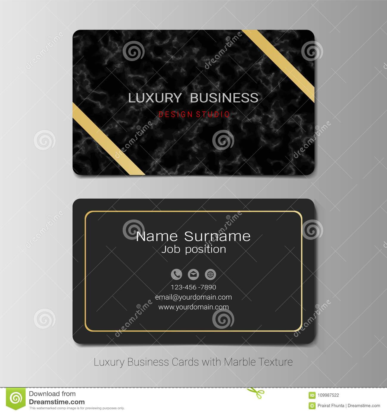 Download Business Cards Vector Template Stock