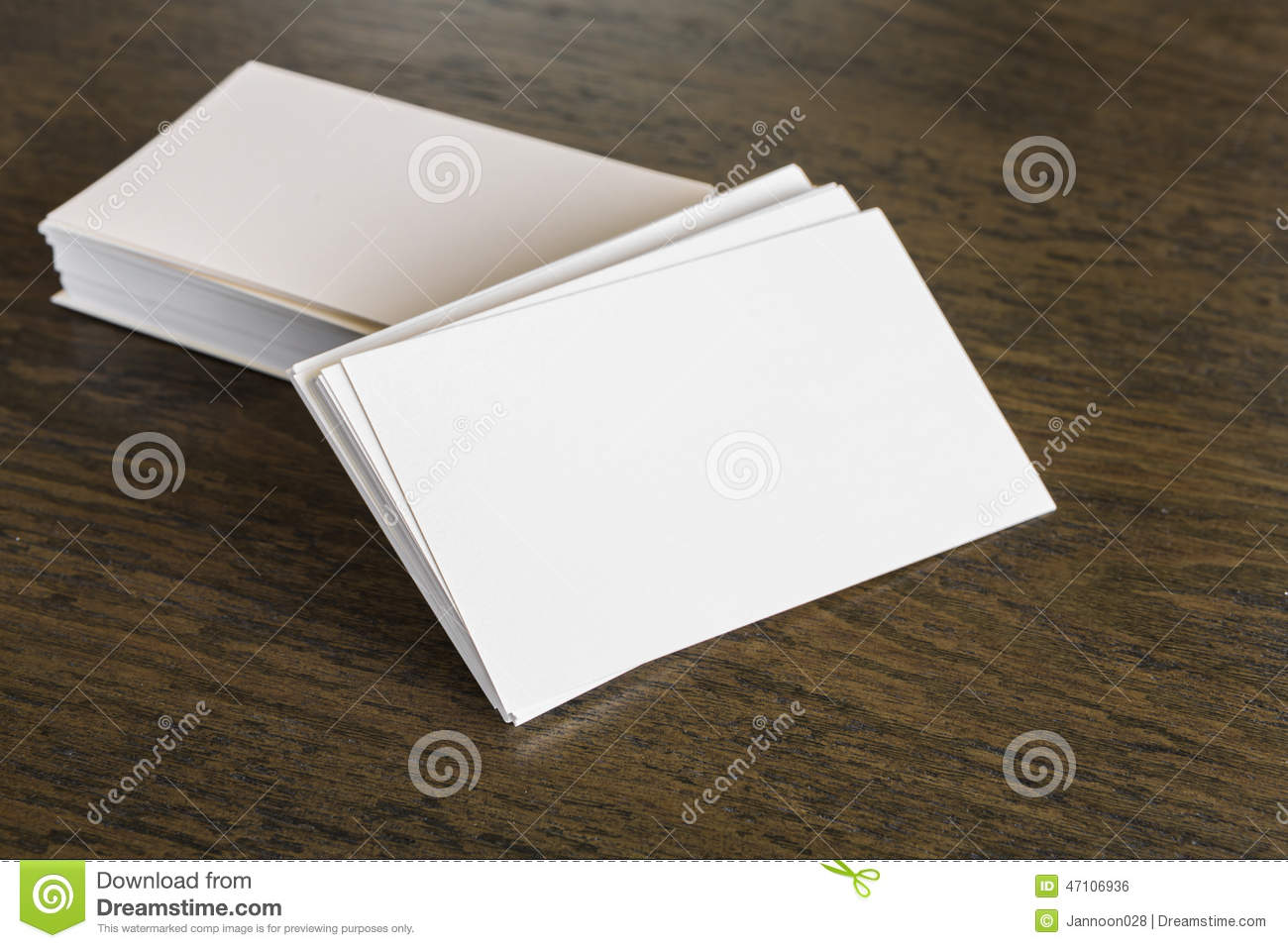 Business Cards On Wood Table Royalty Free Stock Image