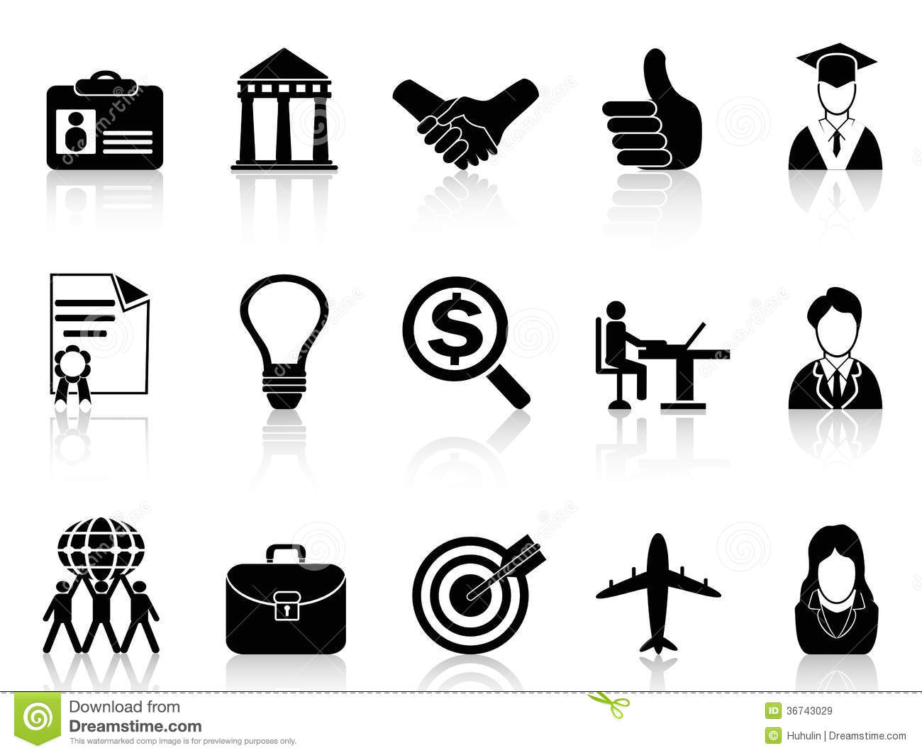 Business Career Icons Royalty Free Stock Images Image