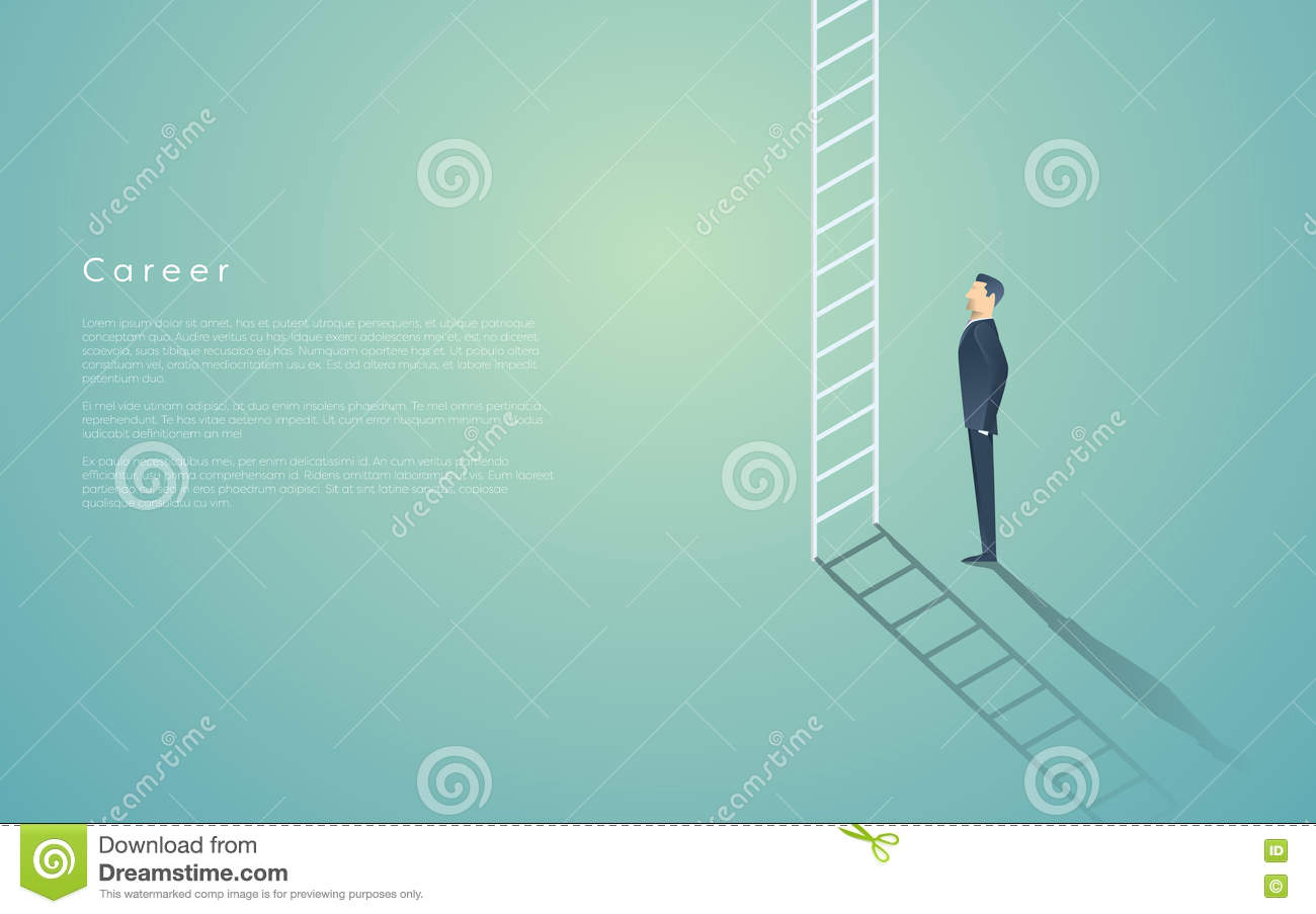 business career ladder concept businessman vector symbol business career ladder concept businessman vector symbol corporate job promotion progress growth