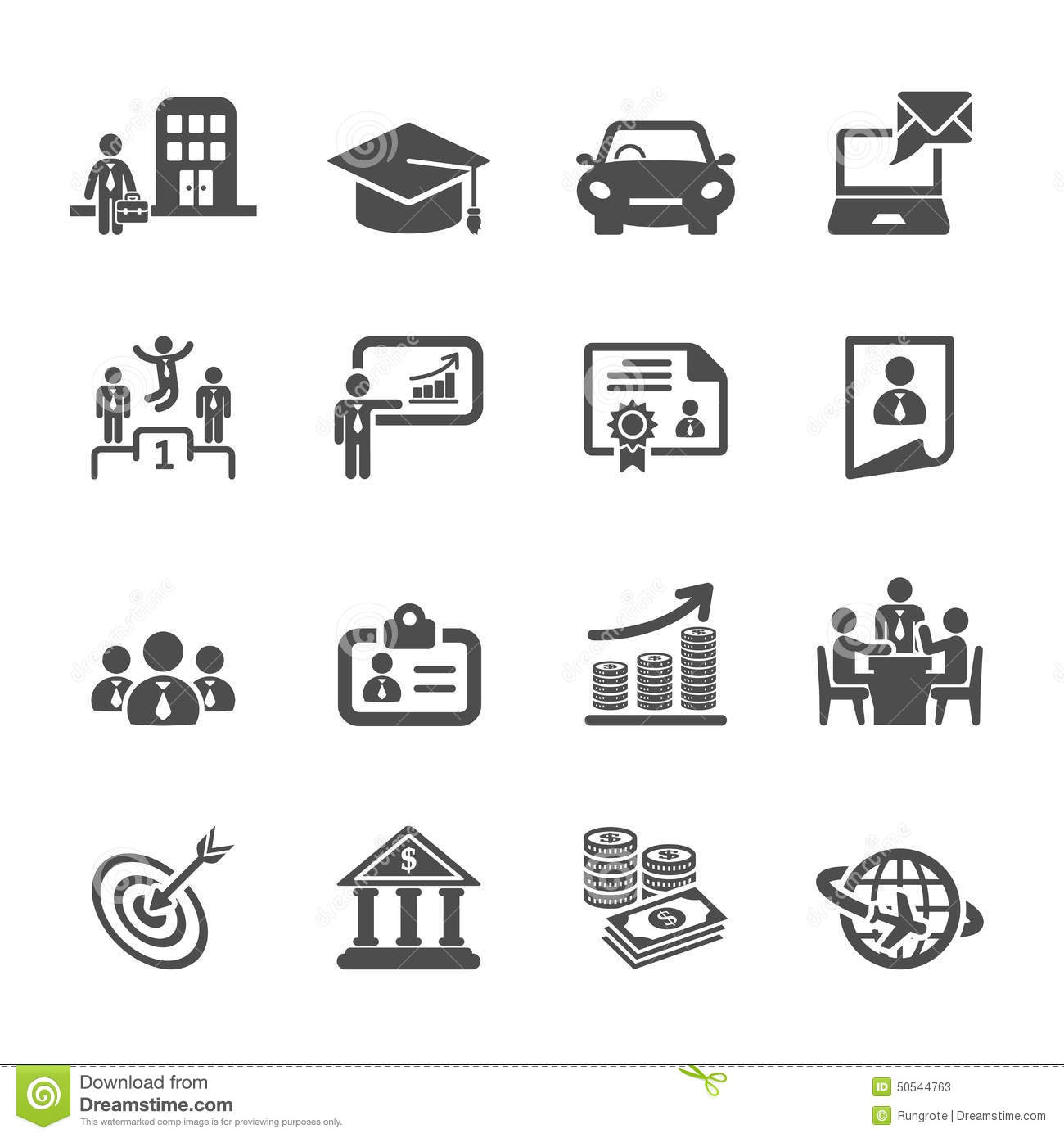 Business Career Life Cycle Icon Set Vector Eps10 Stock