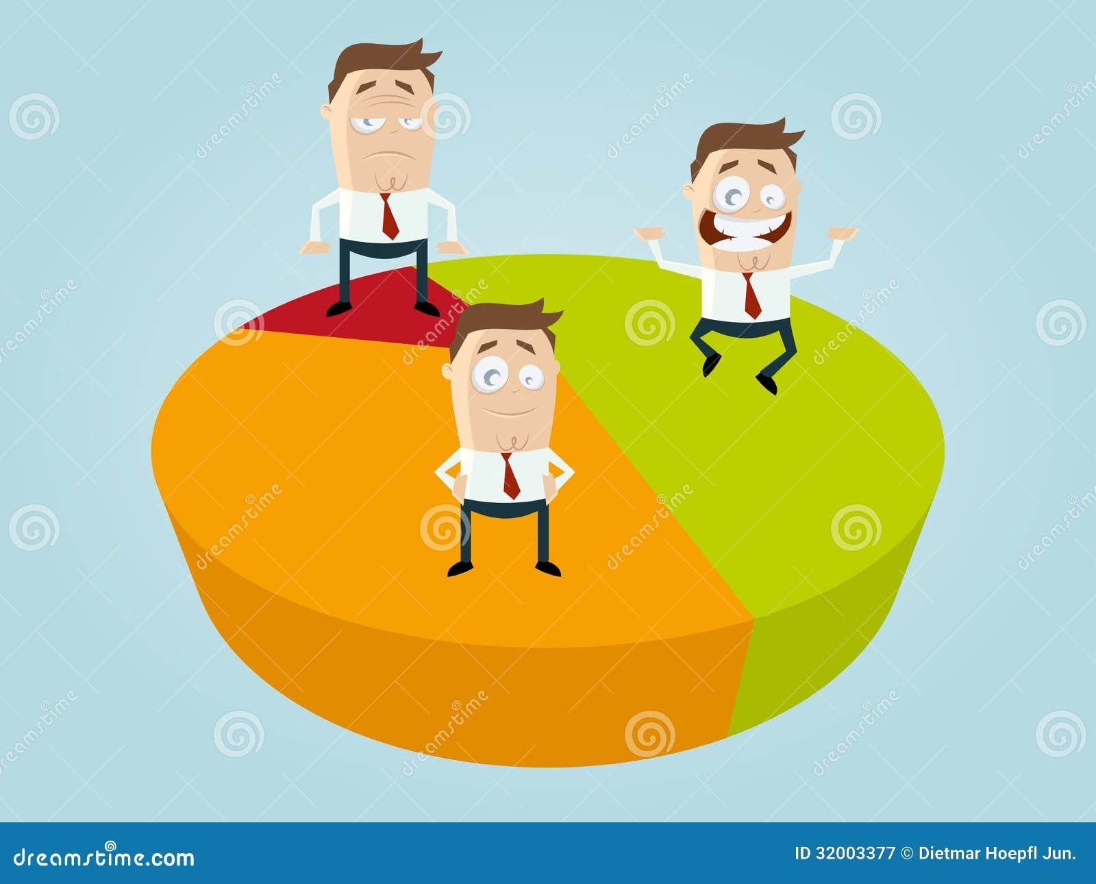 business cartoon men on diagram stock vector image 32003377. Black Bedroom Furniture Sets. Home Design Ideas