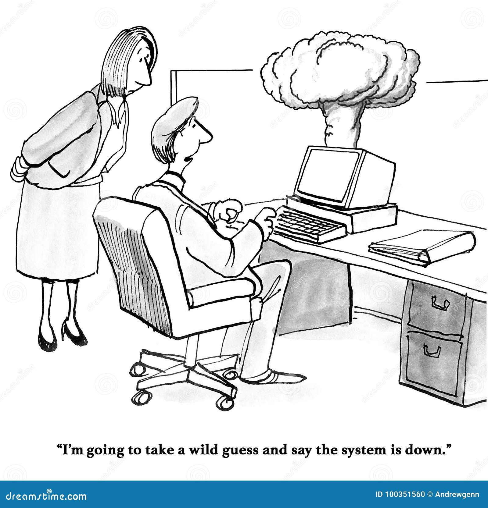 Computer explodes