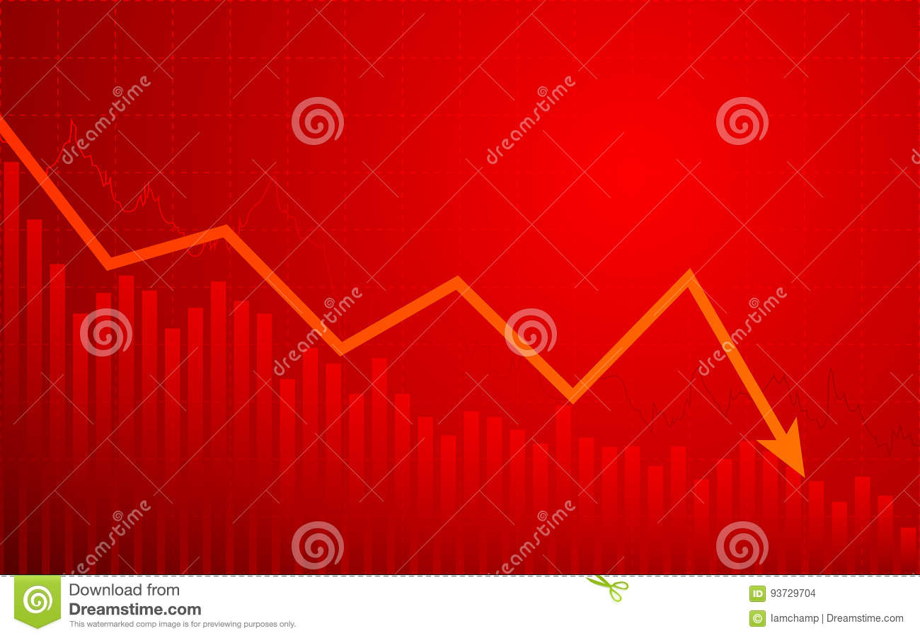 Business chart with downtrend line graph in bear market on red business chart with downtrend line graph in bear market on red color background nvjuhfo Image collections