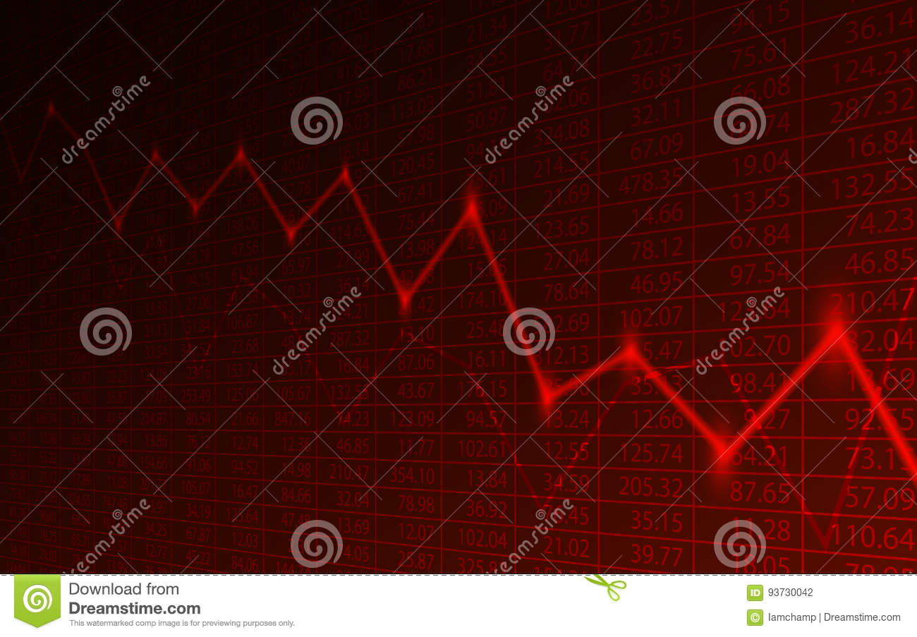 Business chart with downtrend line graph and stock numbers in business chart with downtrend line graph and stock numbers in stock market on red color background nvjuhfo Image collections