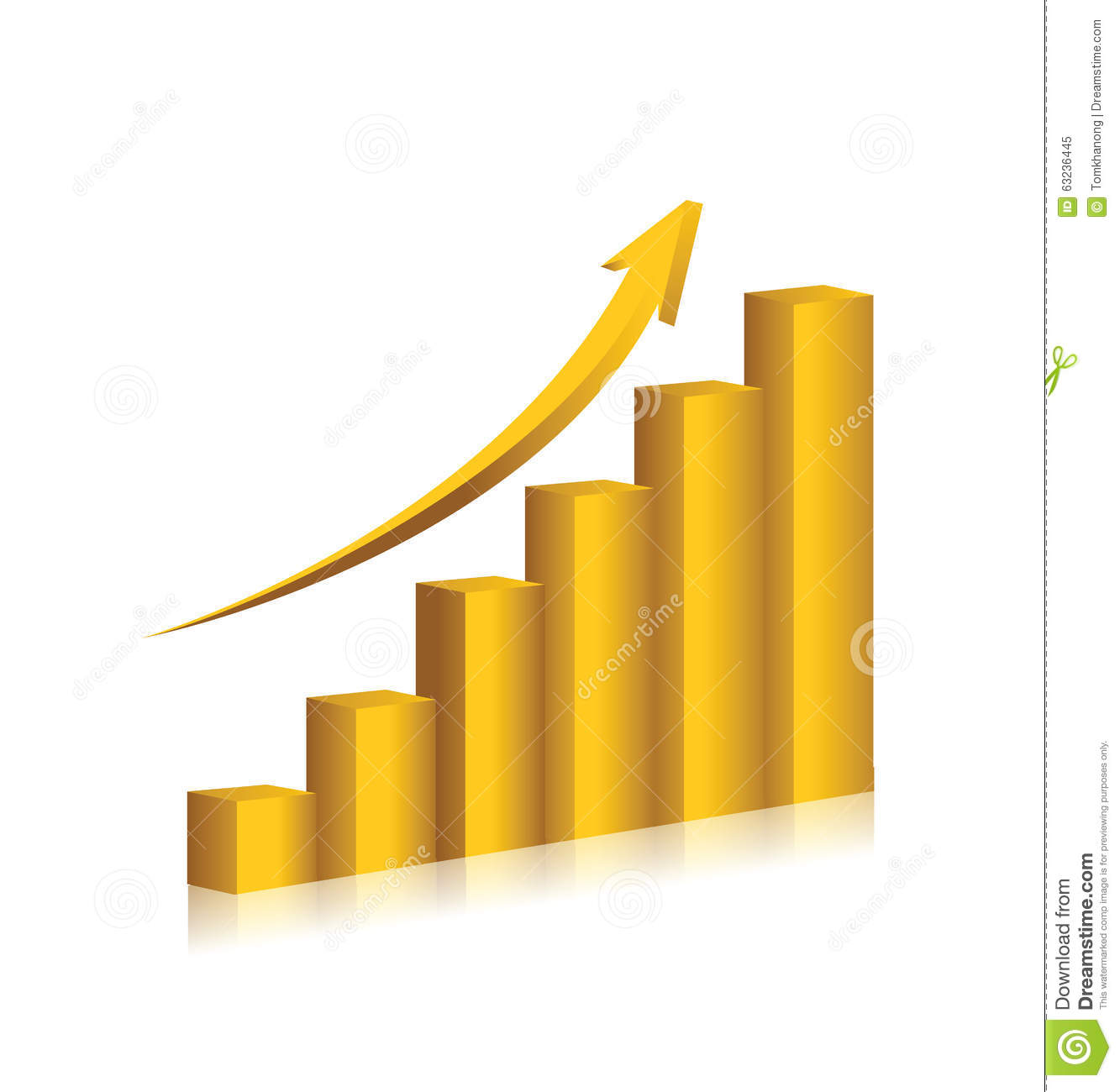 Business chart gold color vector design stock vector business chart gold color vector design nvjuhfo Image collections
