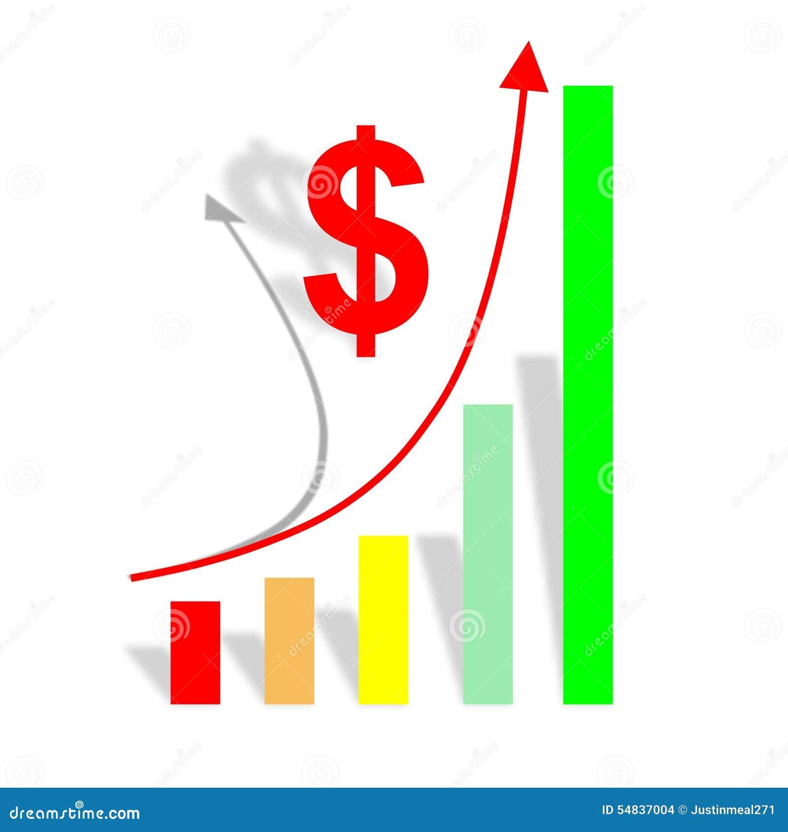 Business Chart Stock Illustration Illustration Of Revenue 54837004