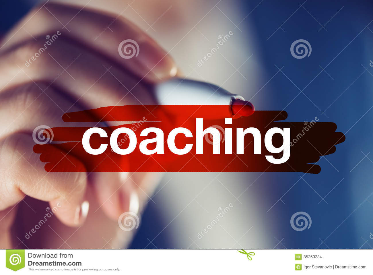 Business coaching concept