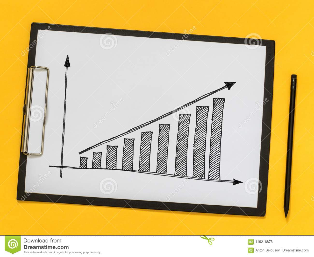 Business Coaching Training Growth Chart On A Piece Of Paper Stock
