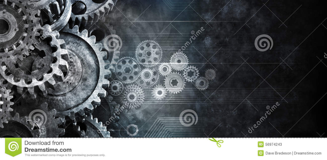 Business Cogs Technology Banner Background Stock Image