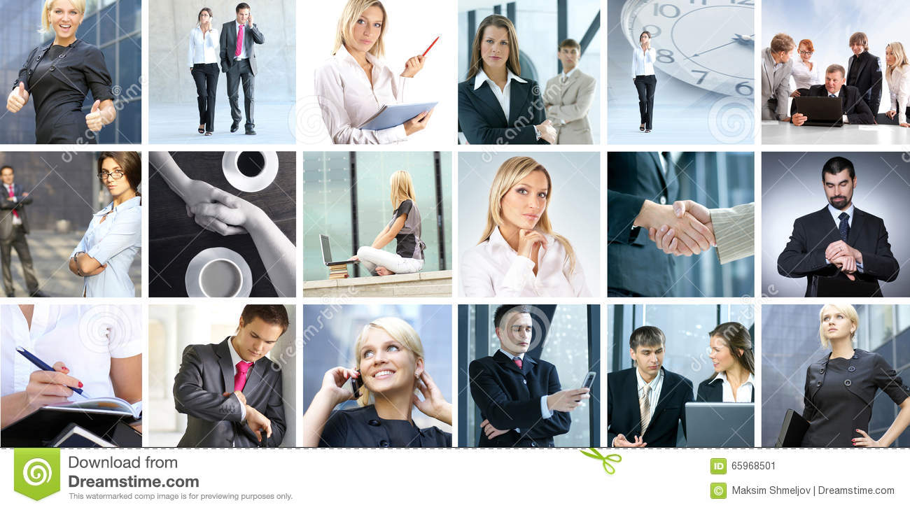 Business collage of images with people