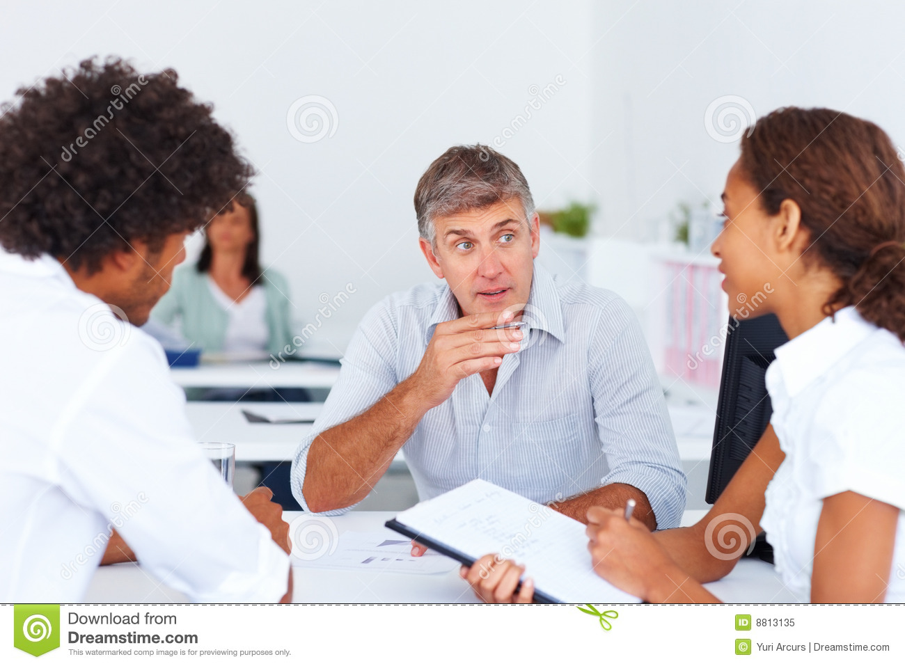 Royalty Free Stock Photo: Business colleagues during a ...