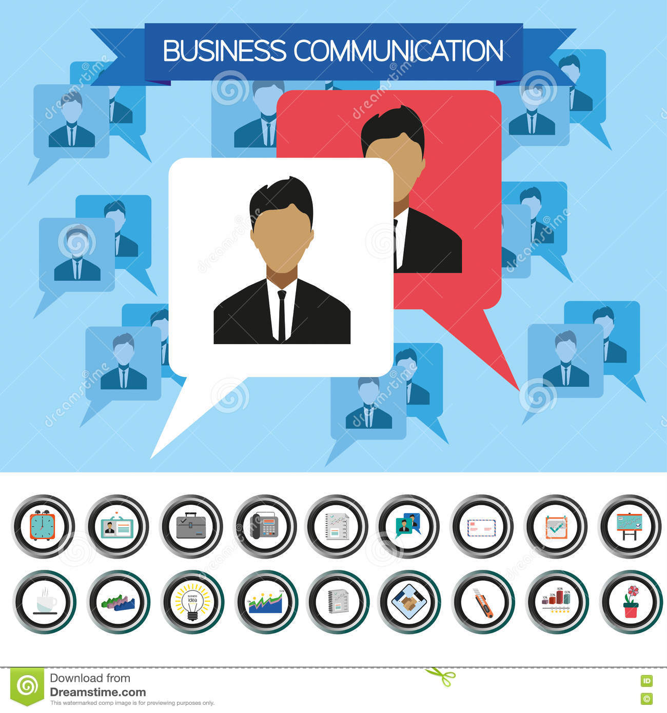 Room Designer Upload Photo Business Communication Infographic With Icons Persons And