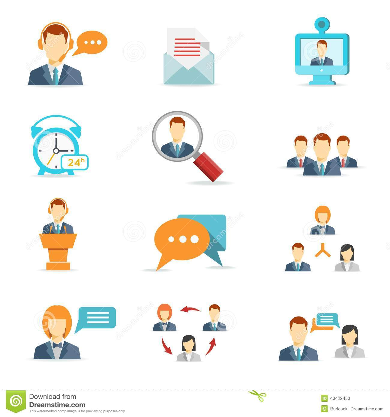 Business Communication And Web Conference Icons Stock Photo - Image ...