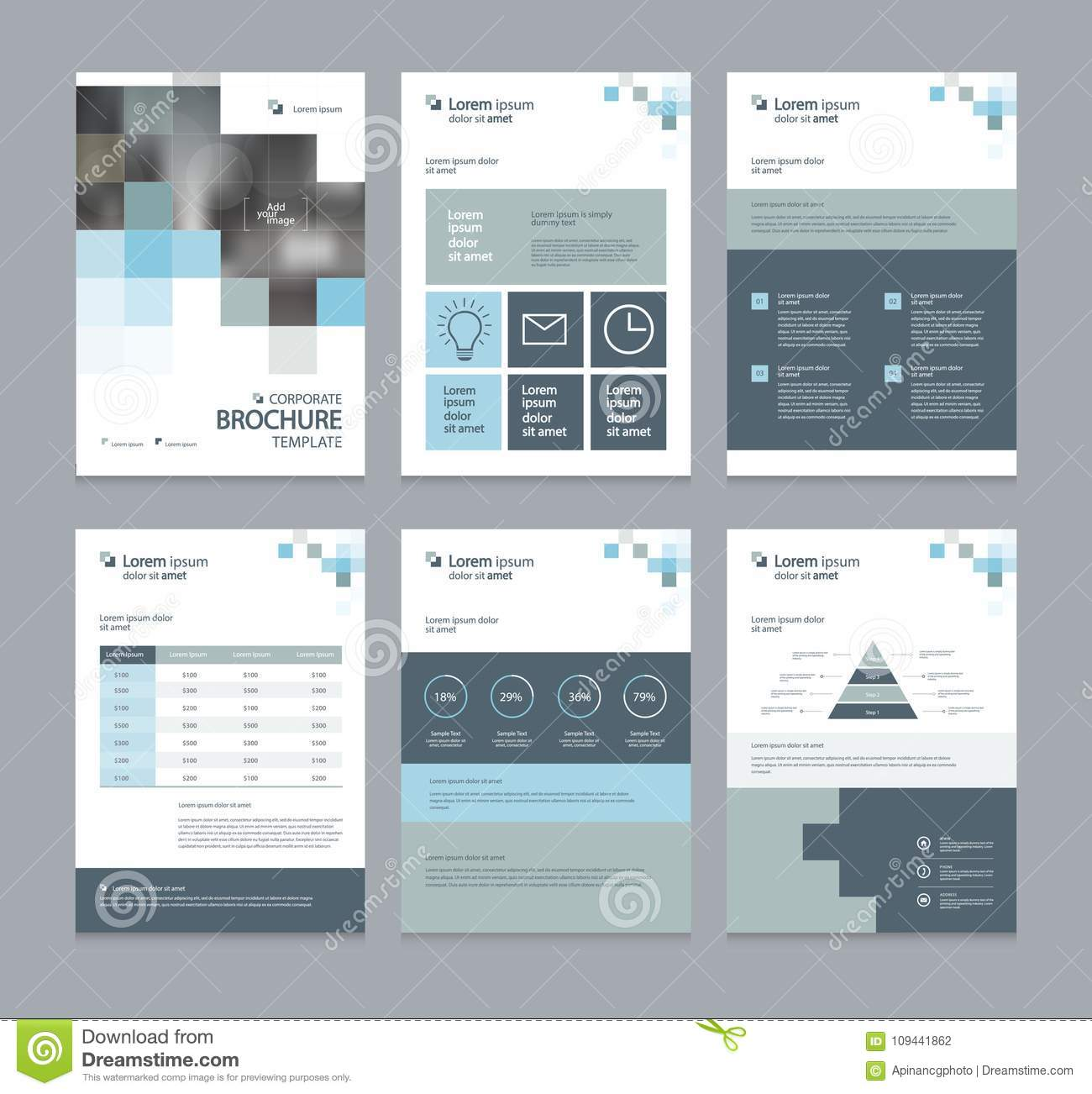 business company profile annual report brochure flyer