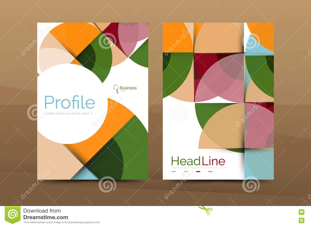 business company profile brochure template stock vector