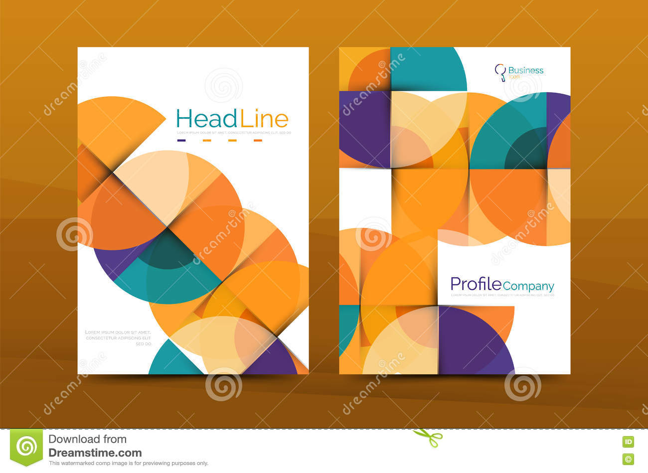 Business company profile brochure template vector for Company profile brochure template