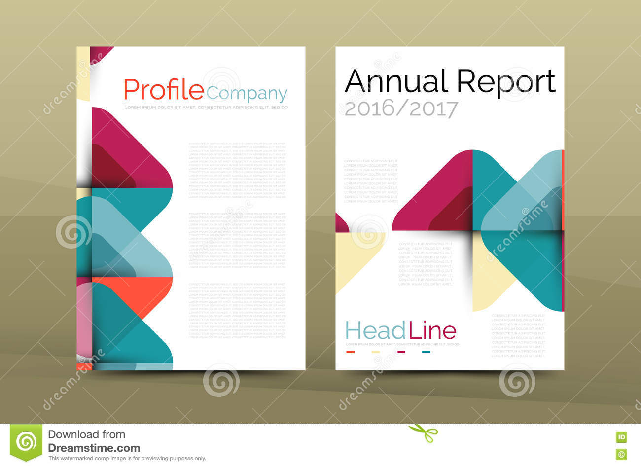 company profile brochure template - business company profile brochure template stock vector